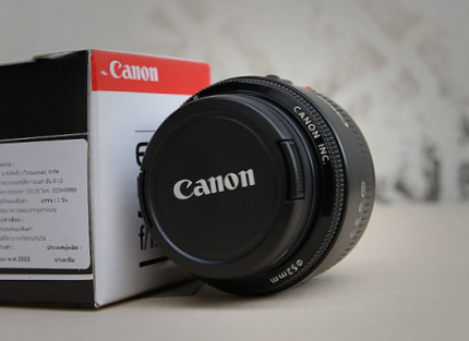 De Canon 1.8 50 mm lens