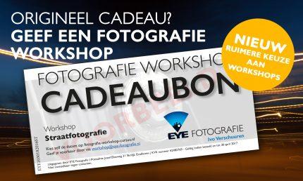 Fotografie Workshop Cadeaubon