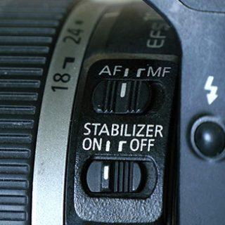 beeldstabilisatie uit bij fotograferen vanaf statief