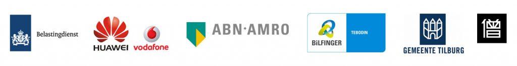 De Belastingdienst, HUAWEI Nederland/Vodafone, ABN Amro, Tebodin/Bilfinger, Gemeente Tilburg, Bluemonque.